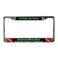 Advanced Nitrox Diver, License Plate Frame