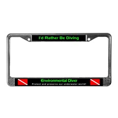 Environmental Diver, License Plate Frame