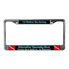 Rebreather Specialty Diver, License Plate Frame