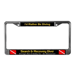 Search & Recovery Diver License Plate Frame