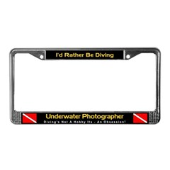 Underwater Photographer License Plate Frame