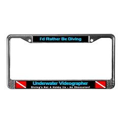 Underwater Videographer License Plate Frame