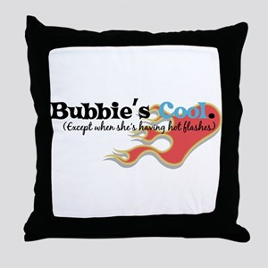 Bubbie's Hot Flashes Throw Pillow