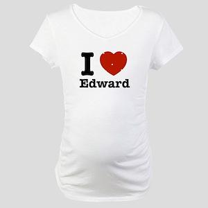 I love Edward Maternity T-Shirt