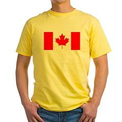 Candian Flag Yellow T-Shirt
