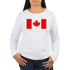 Candian Flag Women's Long Sleeve T-Shirt