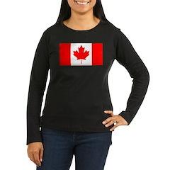 Candian Flag Women's Long Sleeve Dark T-Shirt