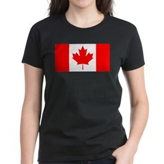 Candian Flag Women's Dark T-Shirt
