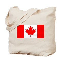 Candian Flag Tote Bag