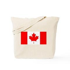 Candian Flag Tote Bag