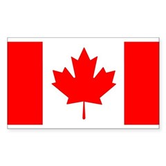 Candian Flag Rectangle Sticker