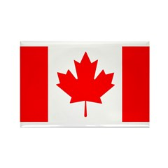 Candian Flag Rectangle Magnet (100 pack)