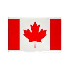 Candian Flag Rectangle Magnet (100 pack)