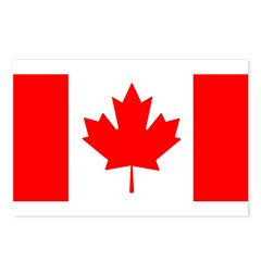 Candian Flag Postcards (Package of 8)