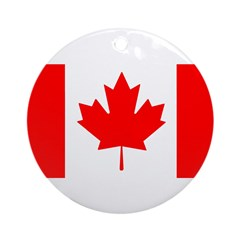Candian Flag Ornament (Round)