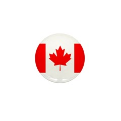 Candian Flag Mini Button (100 pack)