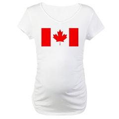 Candian Flag Maternity T-Shirt