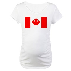 Candian Flag Maternity T-Shirt