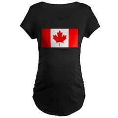 Candian Flag Maternity Dark T-Shirt