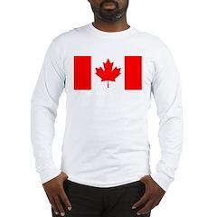 Candian Flag Long Sleeve T-Shirt