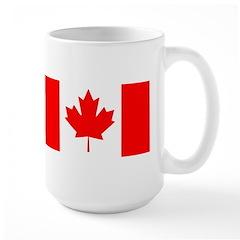 Candian Flag Large Mug
