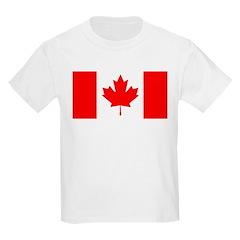 Candian Flag Kids Light T-Shirt
