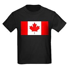 Candian Flag Kids Dark T-Shirt