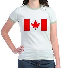 Candian Flag Jr. Ringer T-Shirt