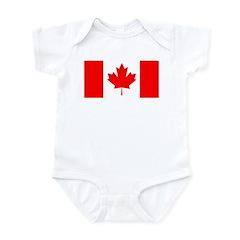 Candian Flag Infant Bodysuit