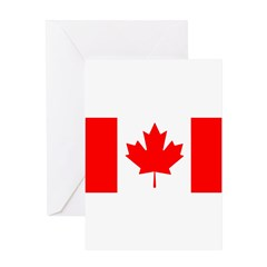 Candian Flag Greeting Card