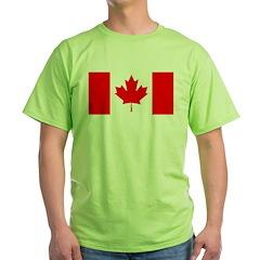 Candian Flag Green T-Shirt