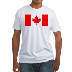 Candian Flag Fitted T-Shirt
