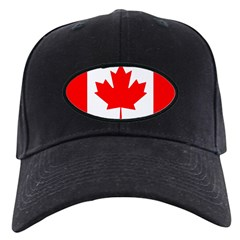 Candian Flag Black Cap