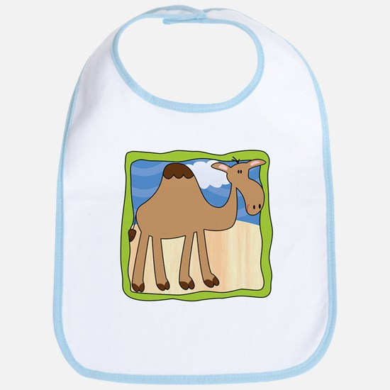 Wandering Camel with Green Border Bib