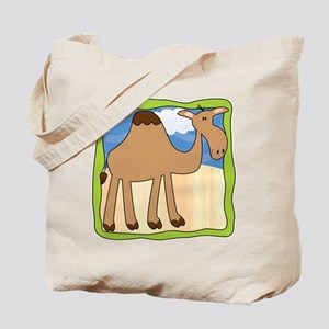 Wandering Camel with Green Border Tote Bag