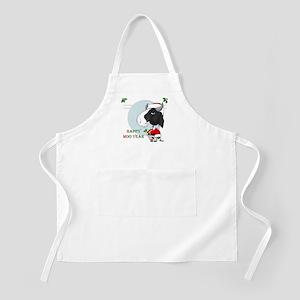 Happy Moo Year BBQ Apron