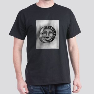 Sun & Moon Drawing Dark T-Shirt