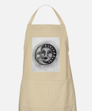 Sun & Moon Drawing BBQ Apron