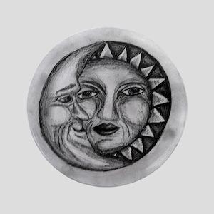 "Sun & Moon Drawing 3.5"" Button"