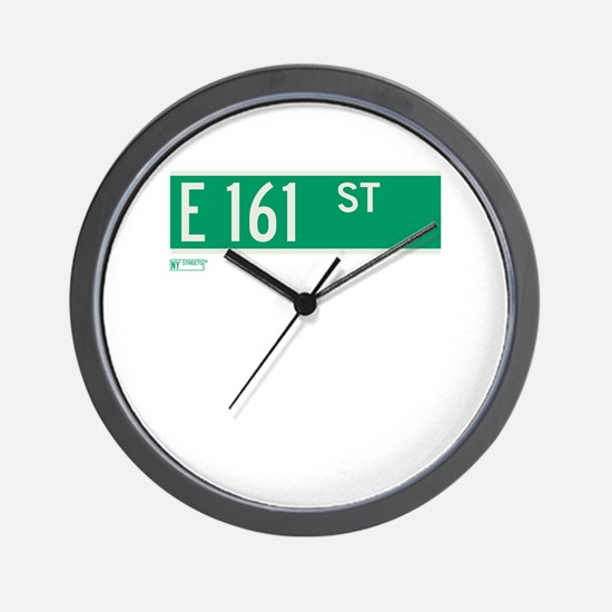 E 161st Street in The Bronx Wall Clock