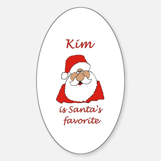 Kim Christmas Oval Decal