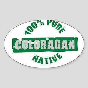 COLORADO SHIRT 100% NATIVE CO Oval Sticker