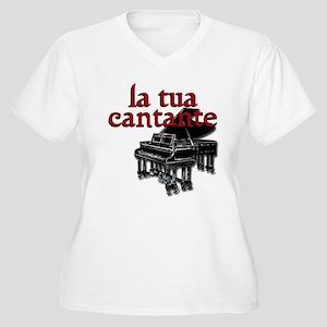 La Tua Cantante. Women's Plus Size V-Neck T-Shirt