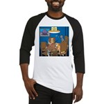 Cards and Cats Baseball Tee