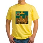 Cards and Cats Yellow T-Shirt