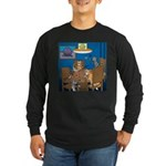 Cards and Cats Long Sleeve Dark T-Shirt