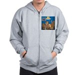 Cards and Cats Zip Hoodie