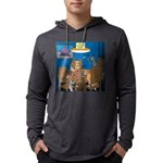 Cards and Cats Mens Hooded Shirt