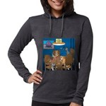 Cards and Cats Womens Hooded Shirt