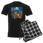 Cards and Cats Men's Dark Pajamas